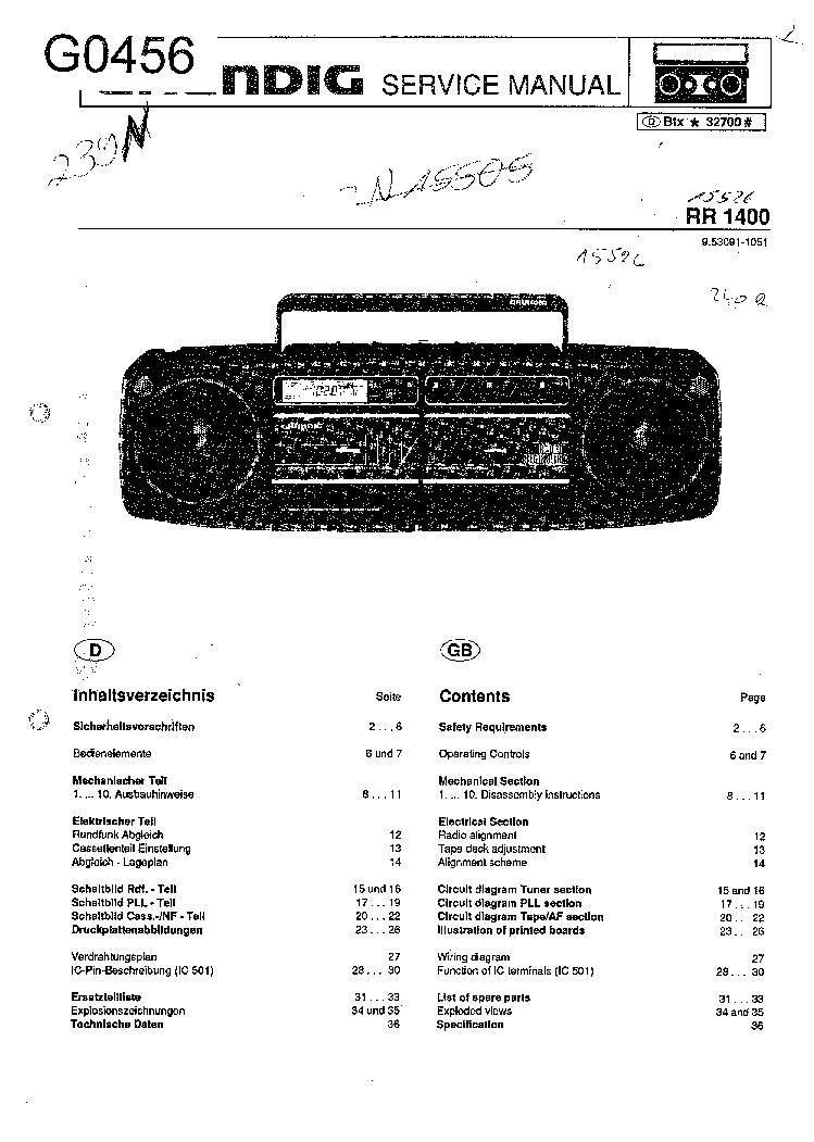GRUNDIG SATELLIT-3400 SM Service Manual free download