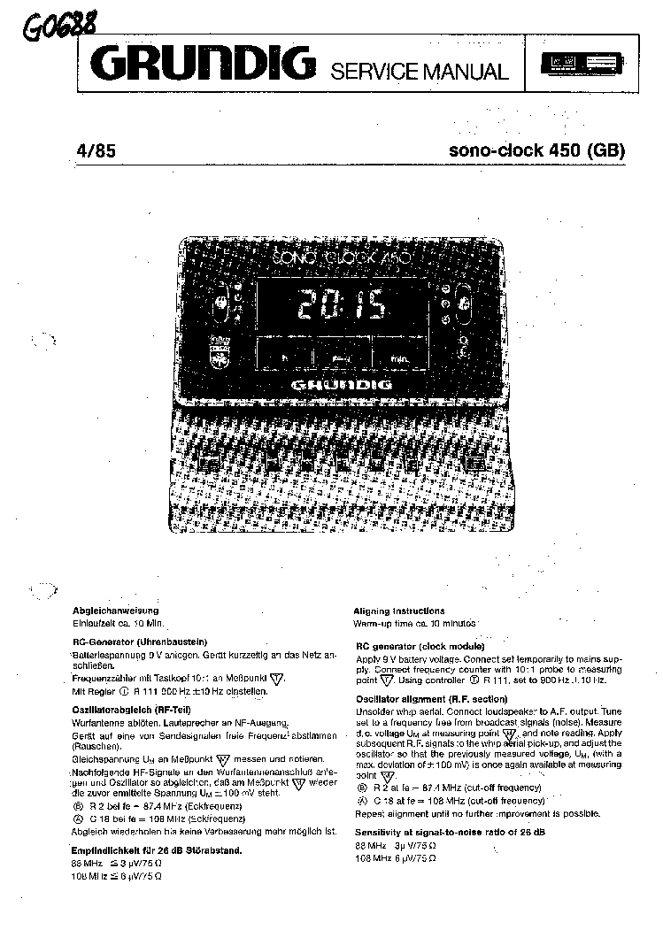 GRUNDIG VE750 PARTS LIST Service Manual download