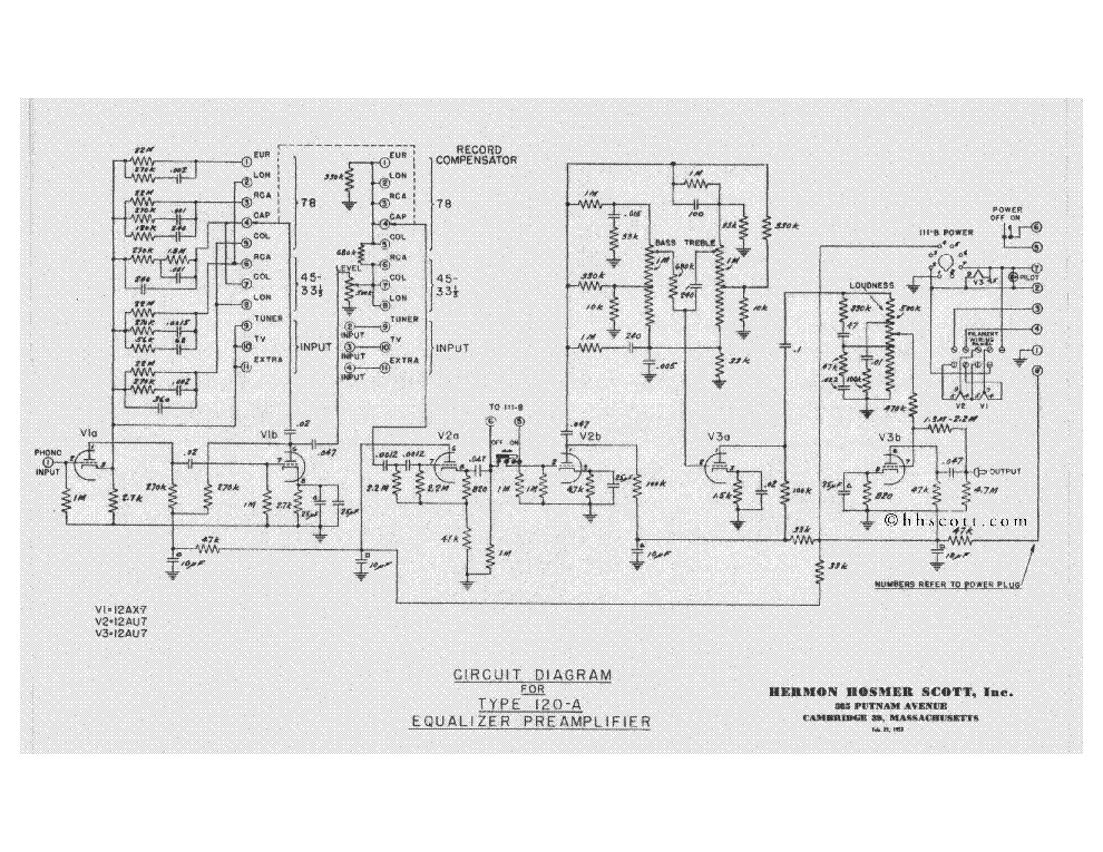 H-H-SCOTT 120A Service Manual download, schematics, eeprom
