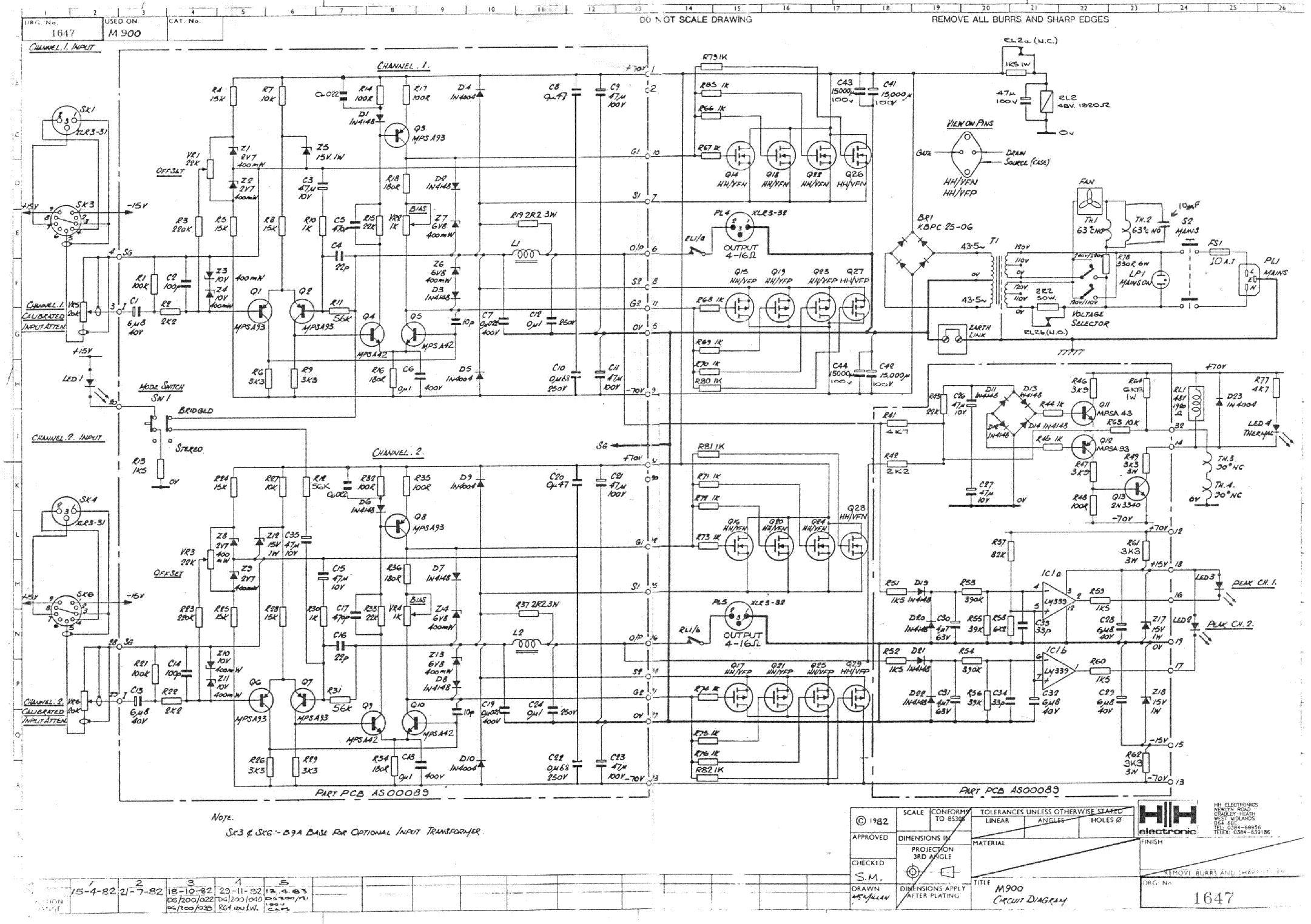 HH-ELECTRONIC M900 Service Manual download, schematics