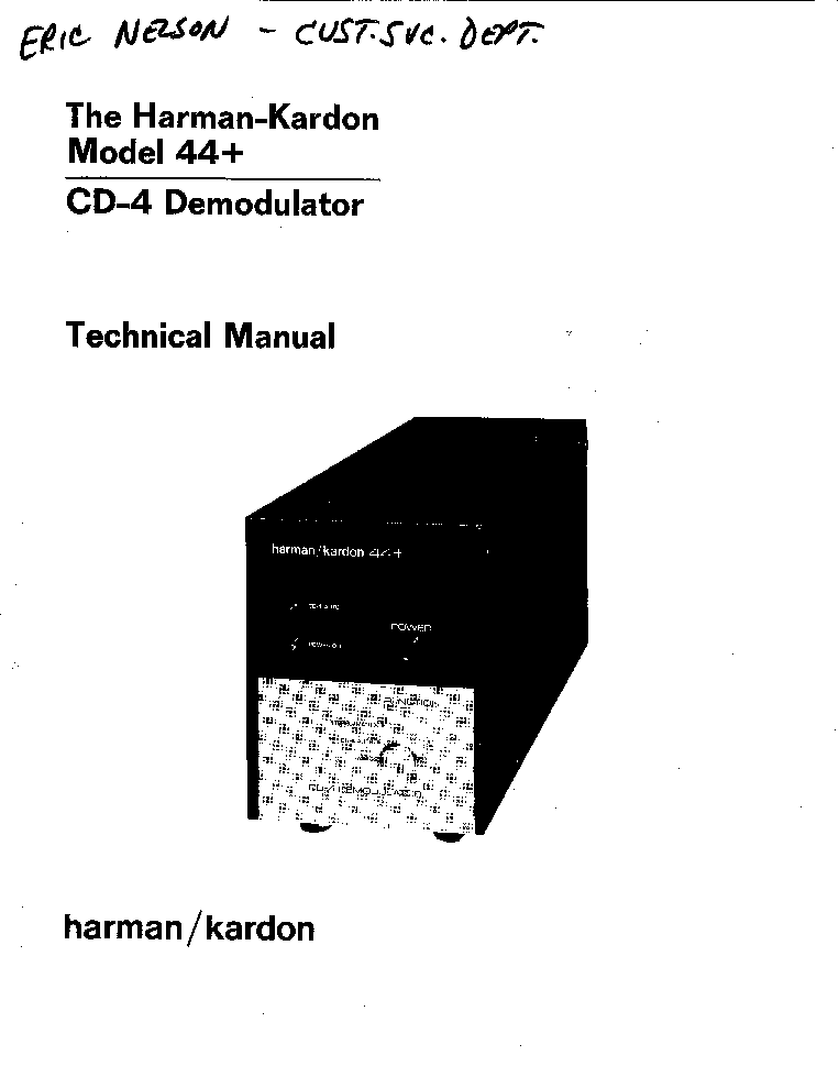 HARMAN-KARDON-3370 Service Manual free download