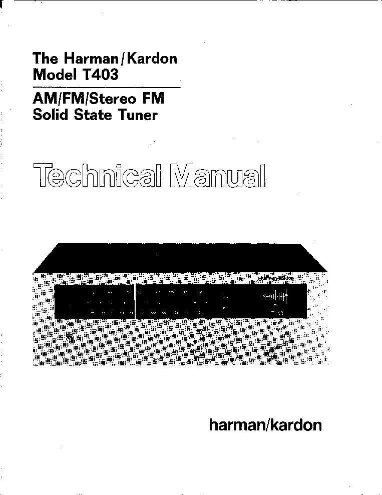 HARMAN-KARDON T403 SM Service Manual download, schematics
