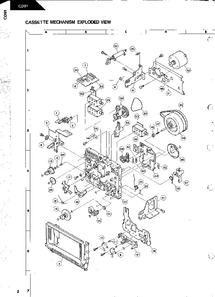 HARMAN KARDON CD91 SM Service Manual download, schematics