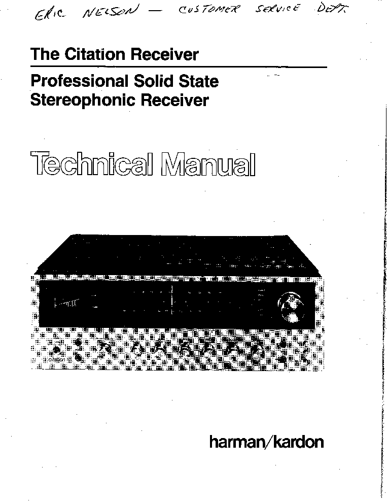 HARMAN KARDON AVR 460 230 SM Service Manual download