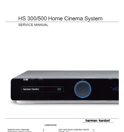 harman kardon hs300 hs500 service manual 1st page  [ 815 x 1123 Pixel ]