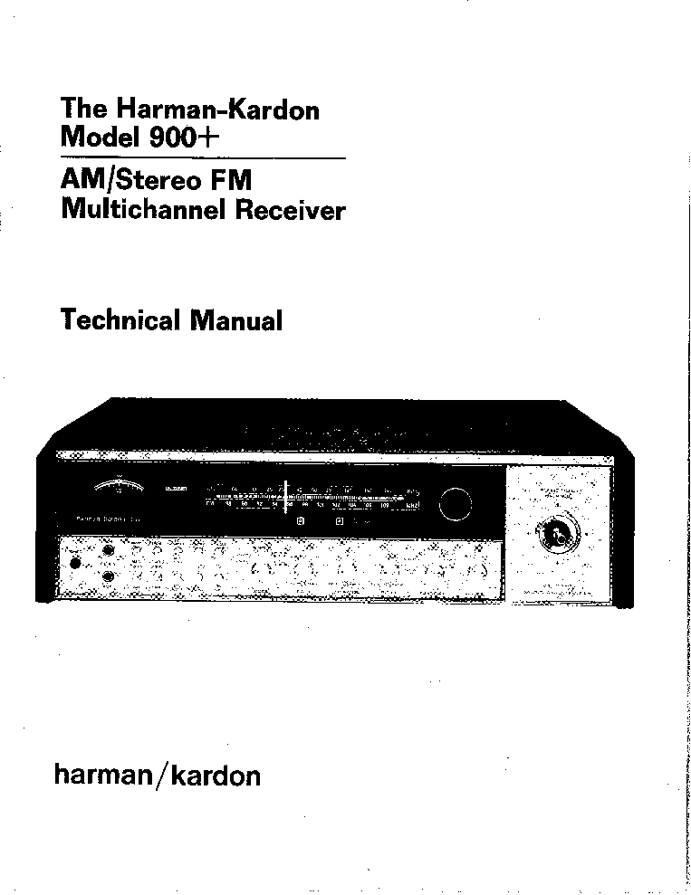 THE HARMAN KARDON HD7400 Service Manual free download