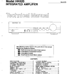 the harman kardon hk service manual schematics the harman kardon hk620 service manual 1st page wiring diagram  [ 755 x 1049 Pixel ]