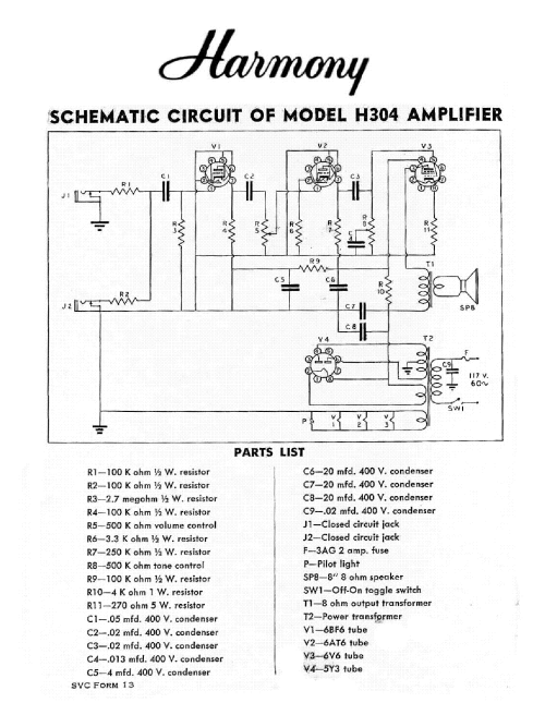 small resolution of harmony h304 sch service manual download schematics eeprom repair harmony h306a schematic wiring amp