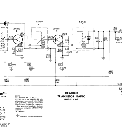 heathkit xr 2 6 transistor radio schematic service manual 1st page  [ 4500 x 2025 Pixel ]