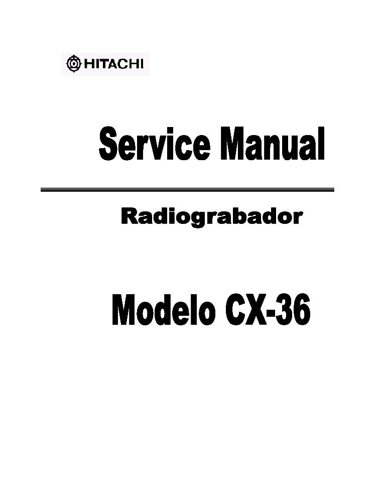 HITACHI CX-36 Service Manual download, schematics, eeprom