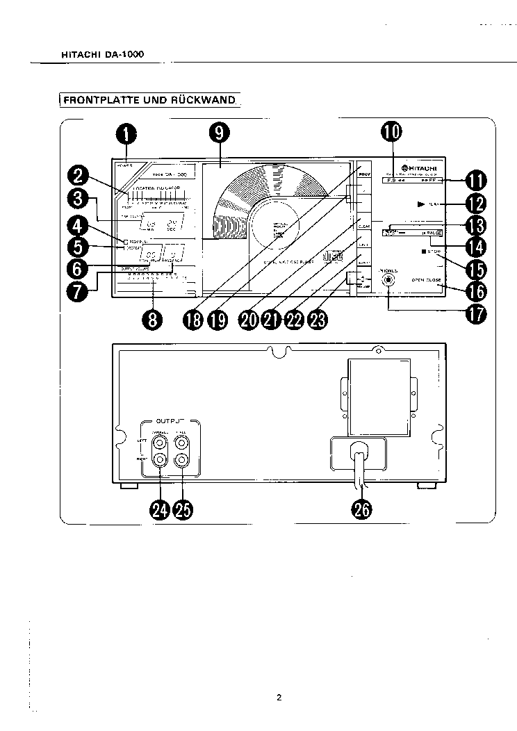 HITACHI DA-1000- Service Manual download, schematics