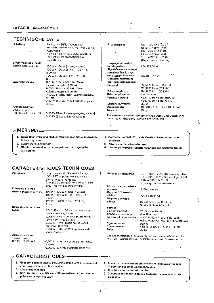 HITACHI HMA-9500-MK-II-SM Service Manual download