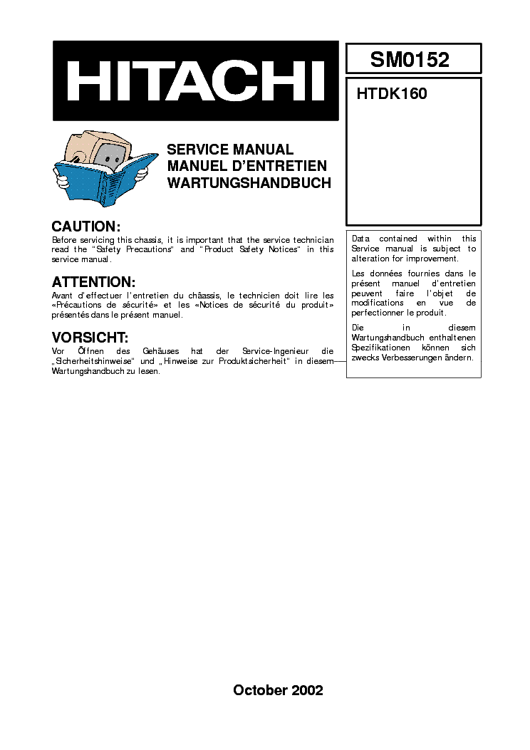 HITACHI DA-1000- Service Manual free download, schematics