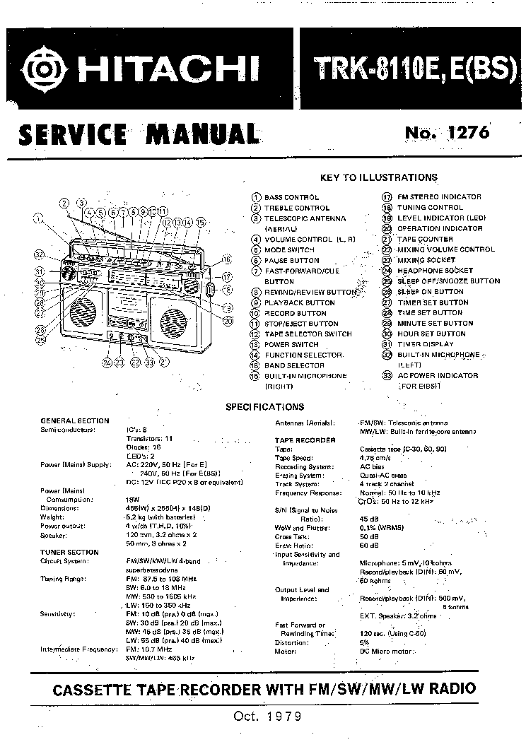 HITACHI HRD-MD40 Service Manual free download, schematics