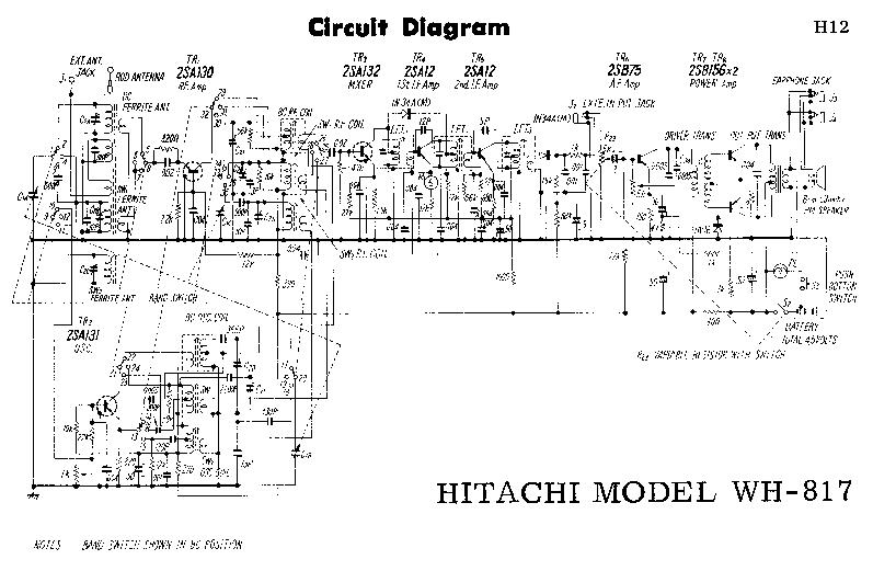 HITACHI WH-817 SCH Service Manual download, schematics