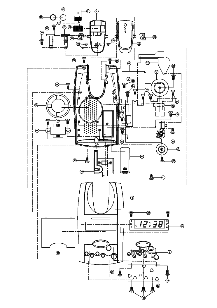 HYUNDAI H-1506 SM Service Manual download, schematics