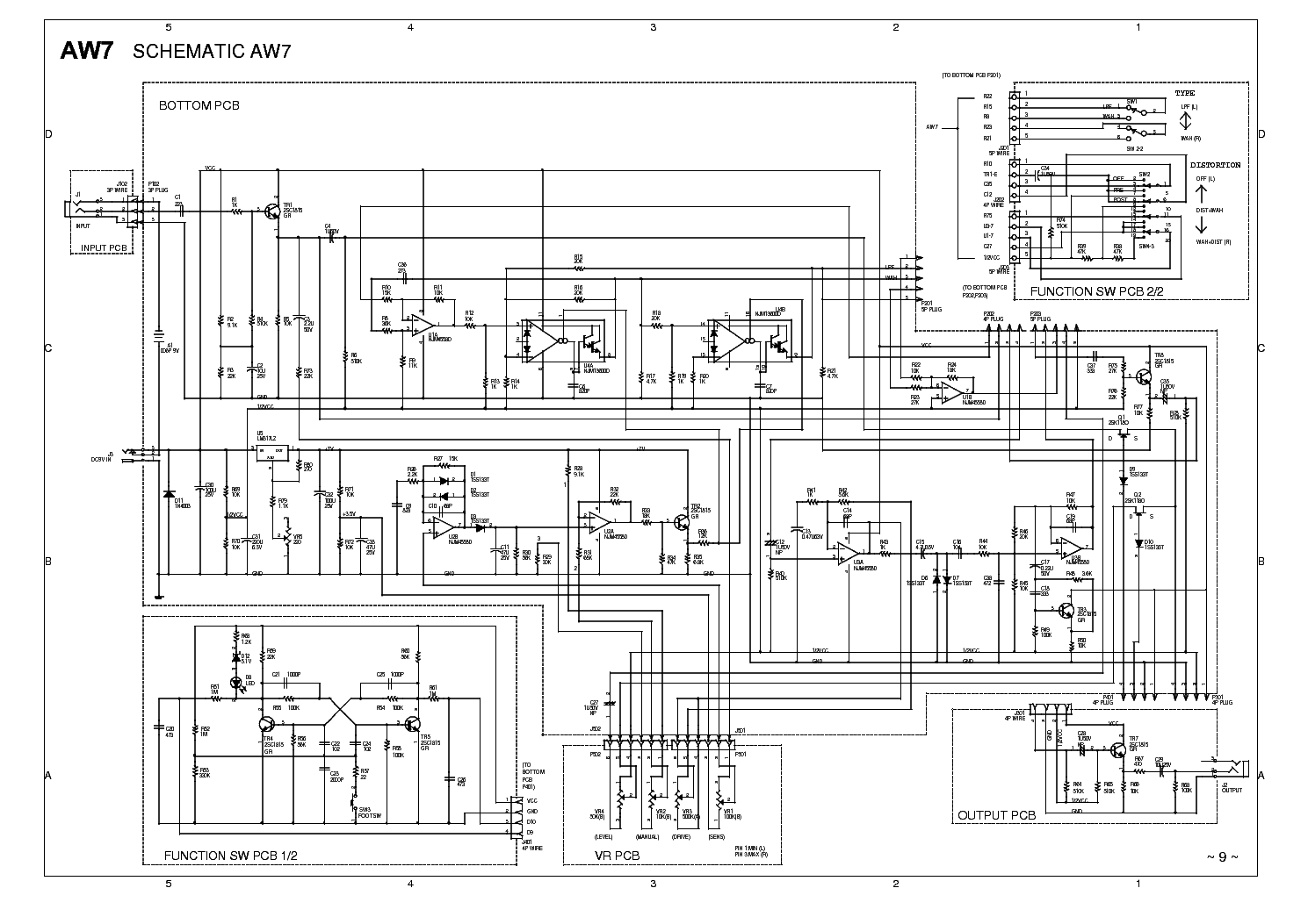 IBANEZ AW7-02-SCHEMATIC Service Manual download