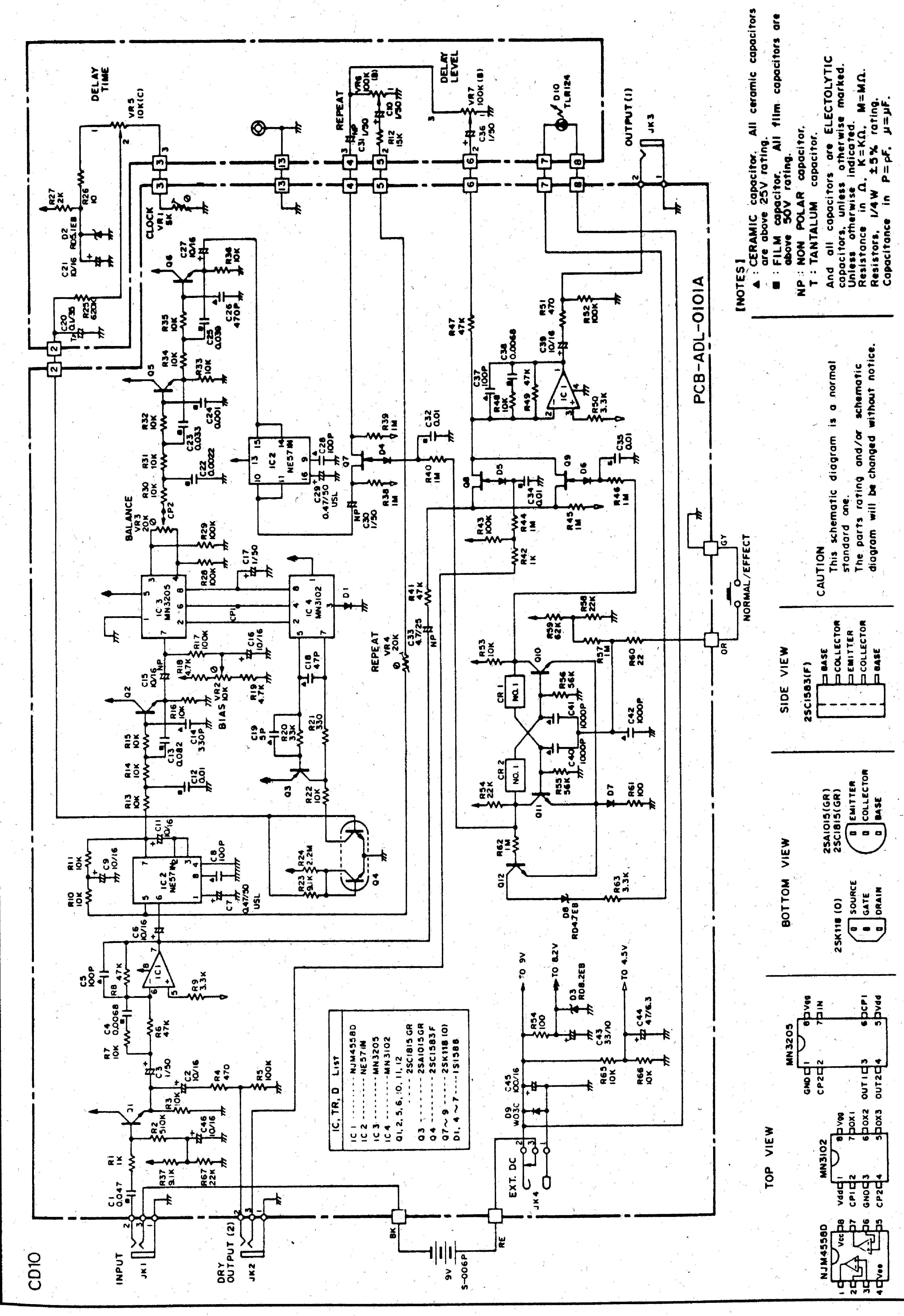 Ibanez Cd10 Sch Service Manual Download Schematics
