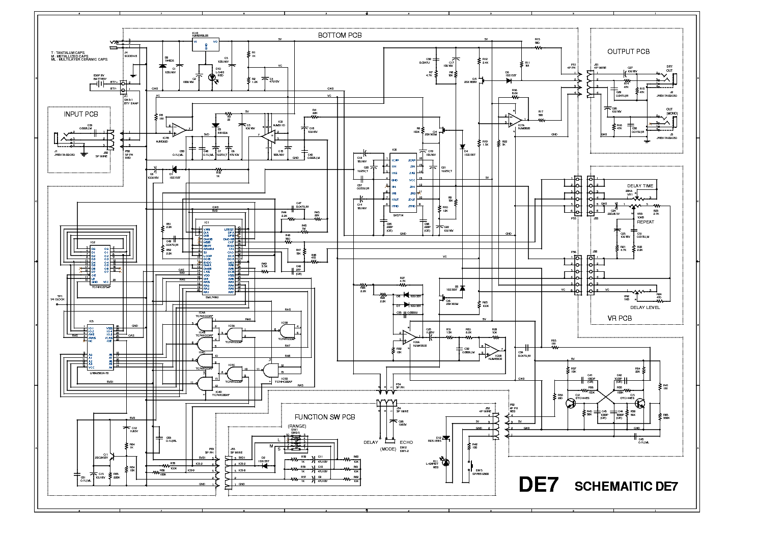 IBANEZ DE7 Service Manual download, schematics, eeprom
