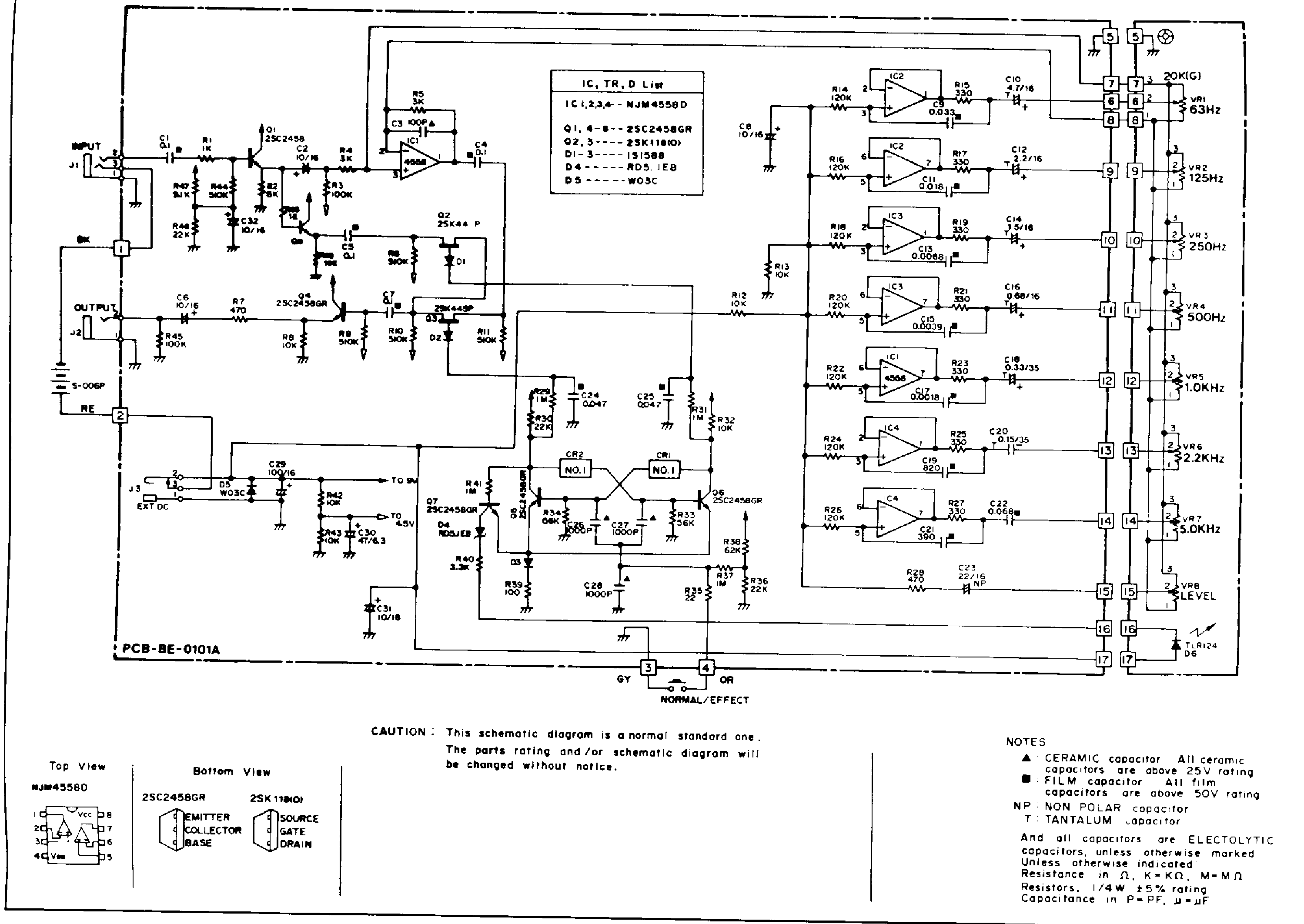 IBANEZ GE9 SCH Service Manual download, schematics, eeprom