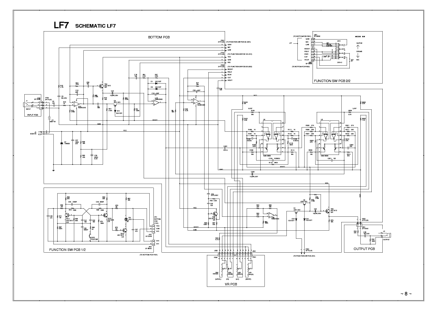 IBANEZ LF7-01-SCHEMATIC Service Manual download