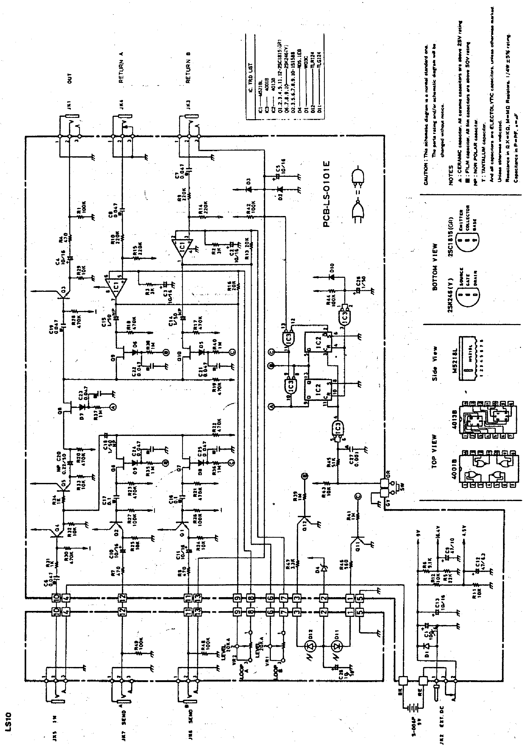 IBANEZ LS10 SCH Service Manual download, schematics