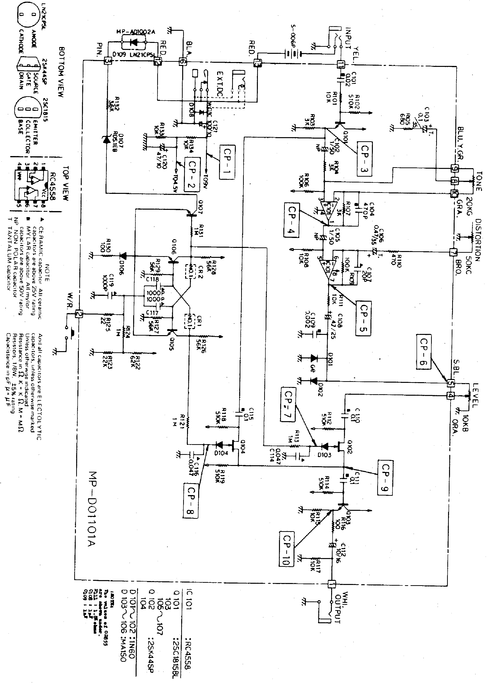 Ibanez St9 Sch Service Manual Download Schematics Eeprom