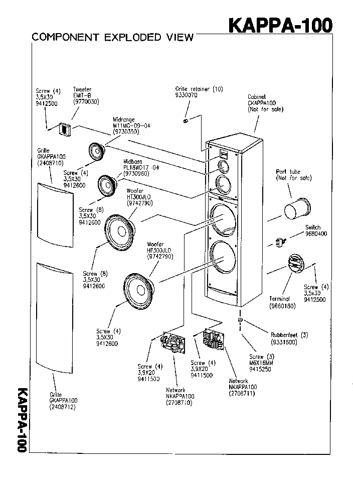 INFINITY KAPPA-100 Service Manual download, schematics