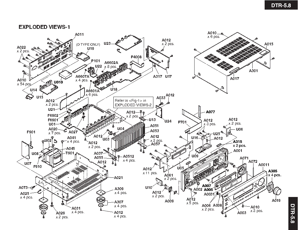 INTEGRA DTR-5.8 Service Manual download, schematics