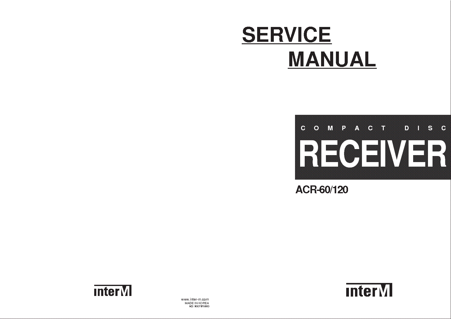 INTERM ACR-60 120 VD0304 Service Manual download