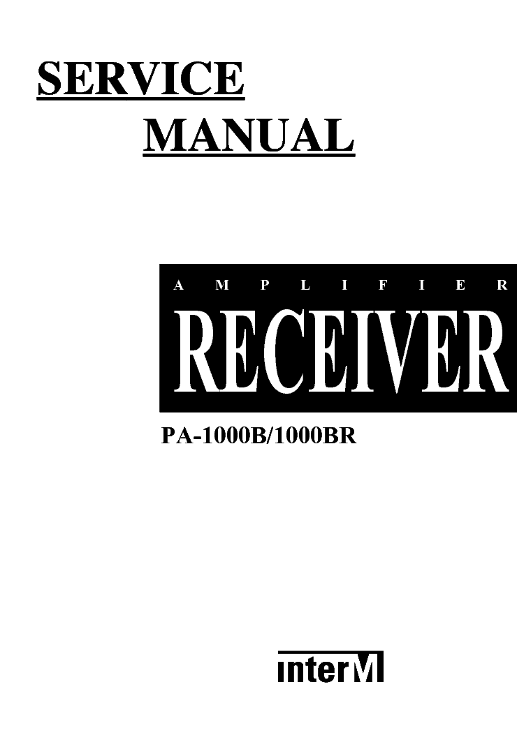 INTERM M-500 700 1000 PARTS SCH Service Manual download