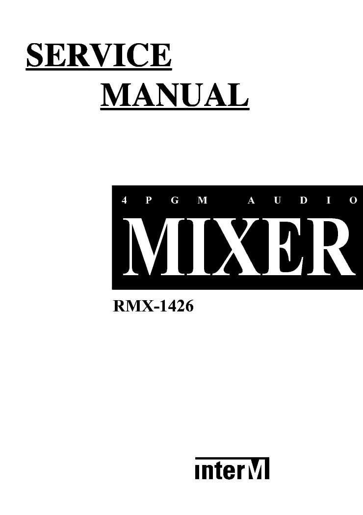 INTERM RMX-1426 Service Manual download, schematics