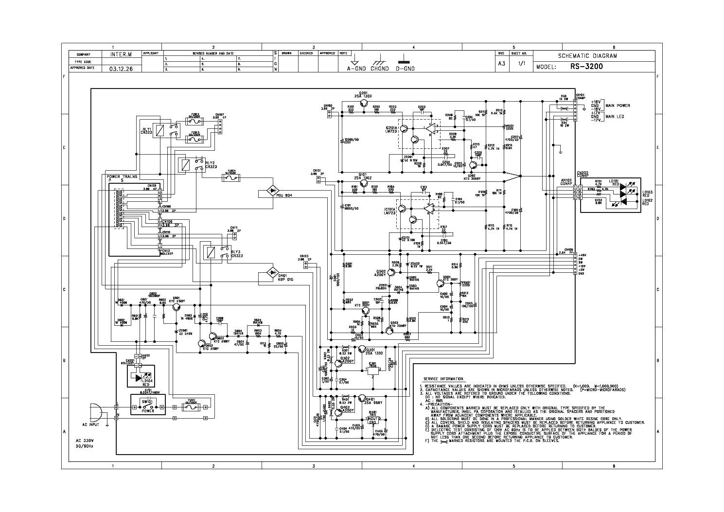 INTERM RS-3200 Service Manual download, schematics, eeprom