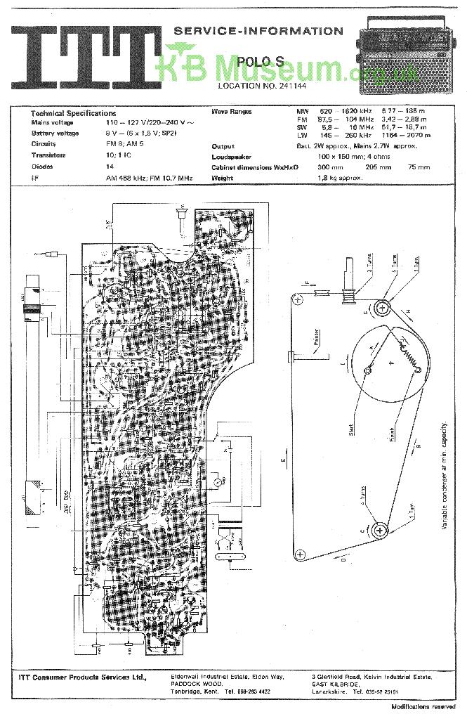 ITT SCHAUB-LORENZ GOLF EUROPA 103 SM Service Manual