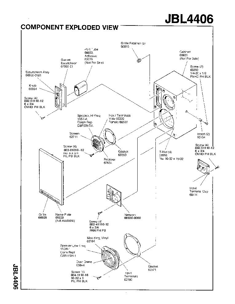 JBL 4406 Service Manual download, schematics, eeprom