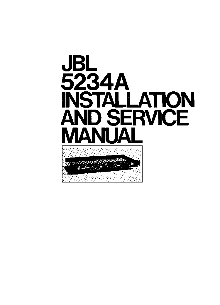 JBL CONTROL 1X 1XTREME SM Service Manual download