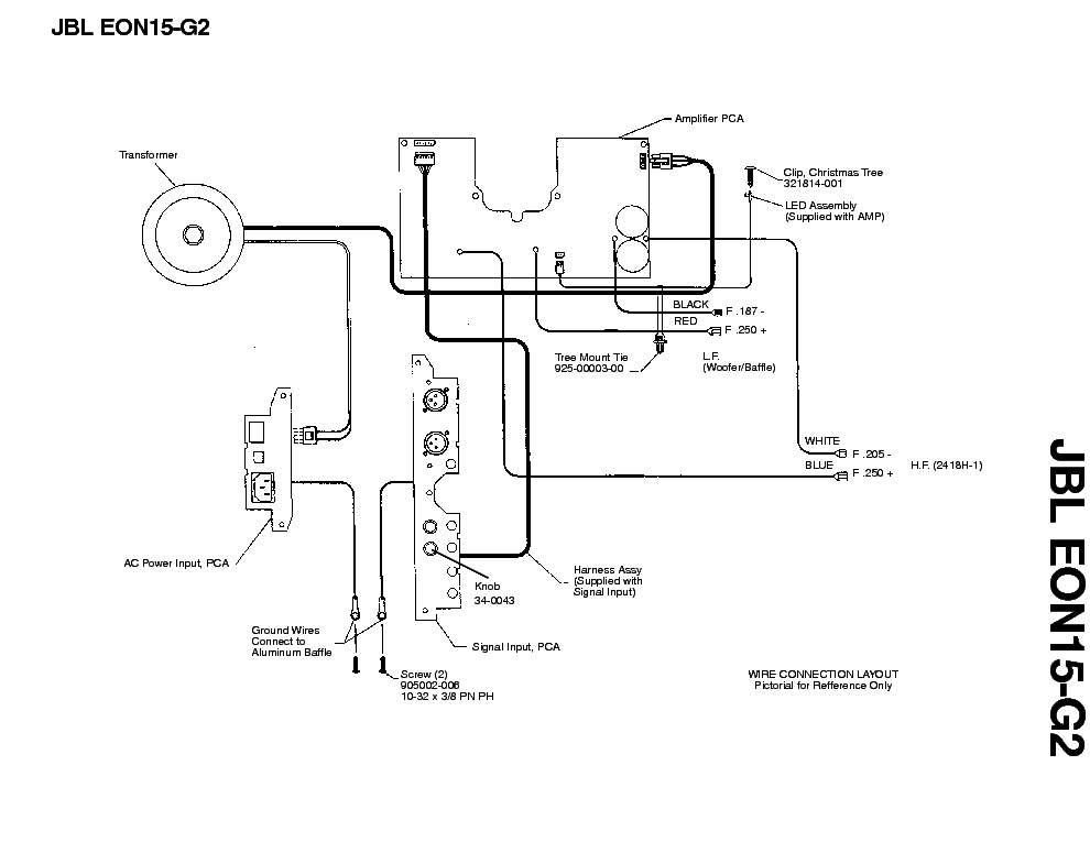 JBL EON15-G2 SM Service Manual download, schematics
