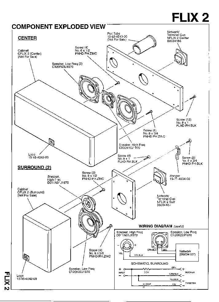 JBL FLIX-2 10W SPEAKER SYSTEM SM Service Manual download