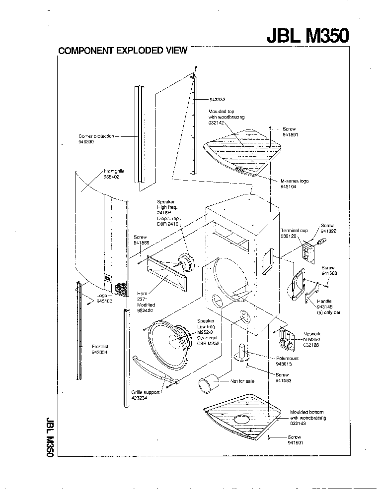 JBL M-350 Service Manual download, schematics, eeprom