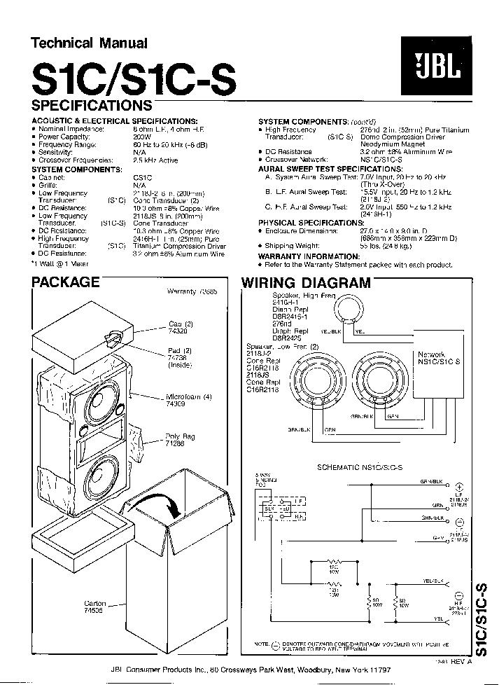 JBL VENUE SUB10 SM Service Manual download, schematics