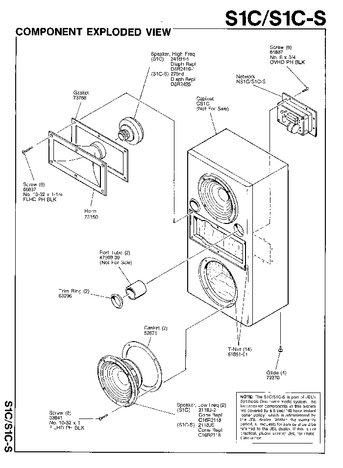 JBL S1C-S SPEAKER-SYNTHESIS SM Service Manual download