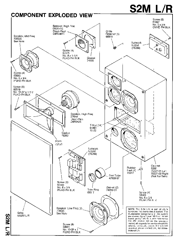JBL S2M-L-R SPEAKER-SYNTHESIS SM Service Manual download