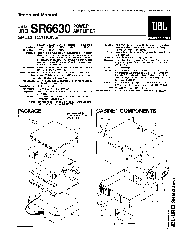 JBL L8400P SM Service Manual download, schematics, eeprom