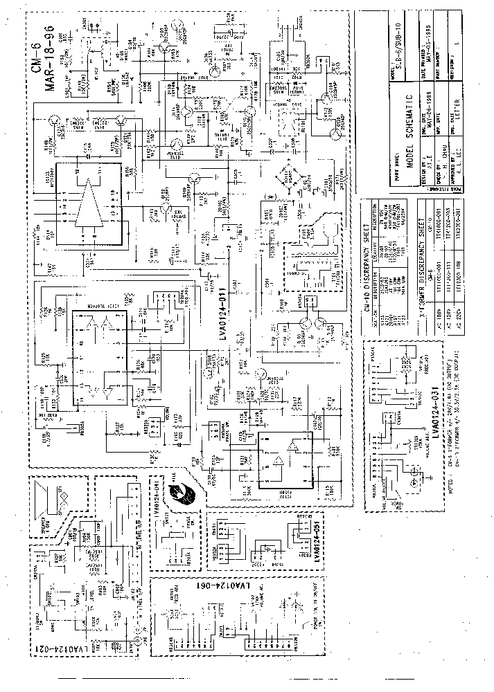 JBL SUB550P-230 Service Manual download, schematics