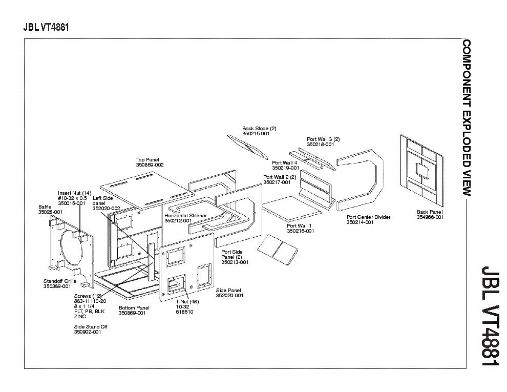 JBL VT4881 Service Manual download, schematics, eeprom