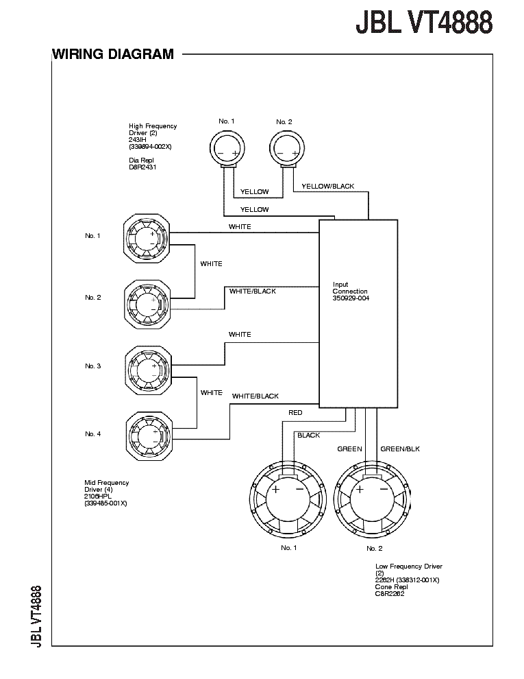 JBL VT4888 Service Manual download, schematics, eeprom