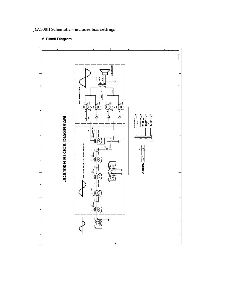 JET-CITY JCA100H SCH Service Manual download, schematics