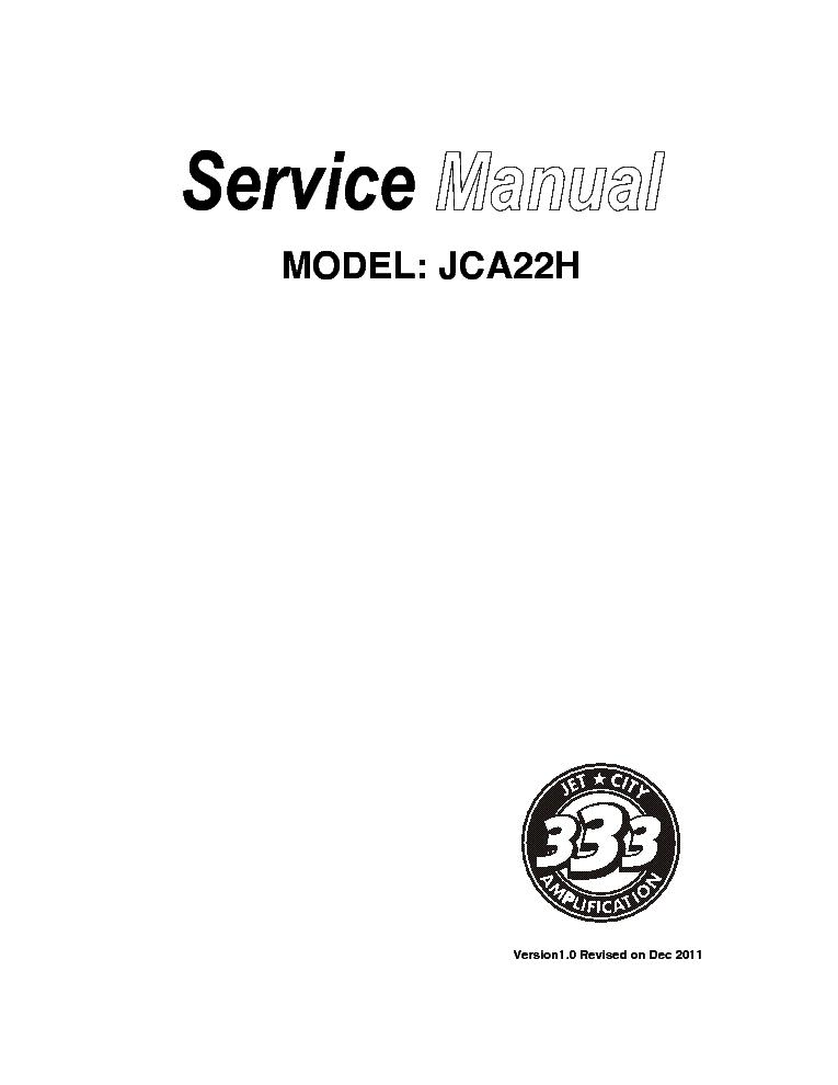 JET-CITY JCA5212RC SCH Service Manual download, schematics