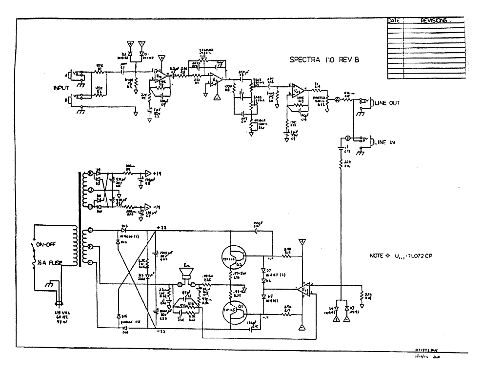 JMF SPECTRA 80 SCH Service Manual download, schematics