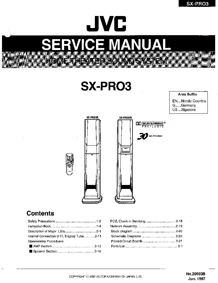 JVC RX-774RBK SM Service Manual free download, schematics